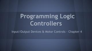 Programming Logic Controllers