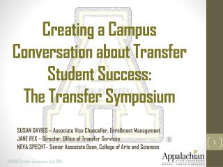 Creating a Campus Conversation about Transfer Student Success:  The Transfer Symposium