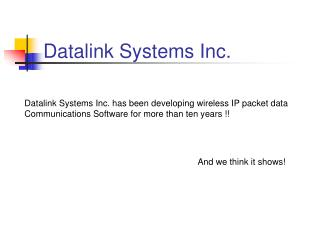 Datalink Systems Inc.