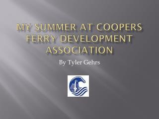 My Summer at coopers ferry Development Association