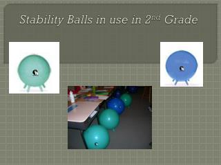 Stability Balls in use in 2 nd  Grade