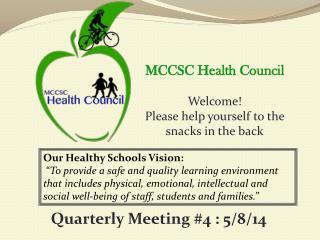 Our Healthy Schools Vision: