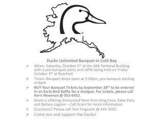 Ducks Unlimited Banquet in Cold Bay