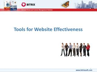 Tools for Website Effectiveness