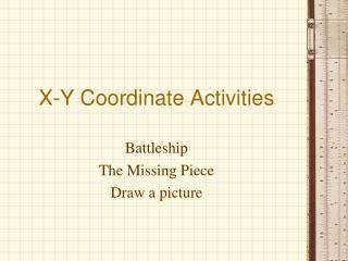 X-Y Coordinate Activities