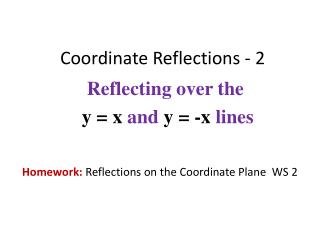 Coordinate Reflections - 2