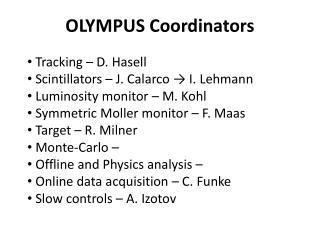 OLYMPUS Coordinators