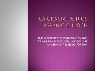 LA GRACIA DE DIOS HISPANIC CHURCH