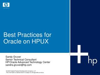 Sandy Gruver Senior Technical Consultant HP