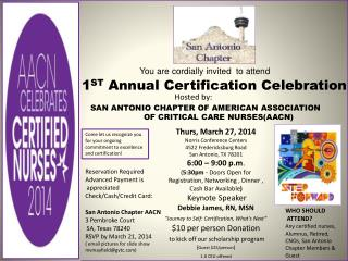 SAN ANTONIO CHAPTER OF AMERICAN ASSOCIATION  OF CRITICAL CARE NURSES(AACN)