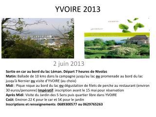 YVOIRE 2013