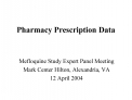 Pharmacy Prescription Data