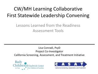 CW/MH Learning Collaborative First Statewide Leadership Convening