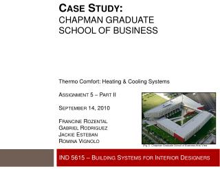 IND 5615 � Building Systems for Interior Designers