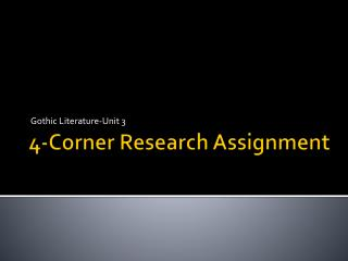4-Corner Research Assignment