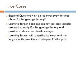 1. Ice  Cores