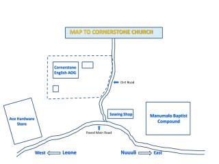 MAP TO CORNERSTONE CHURCH