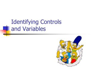 Identifying Controls  and Variables