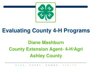 Evaluating County 4-H Programs
