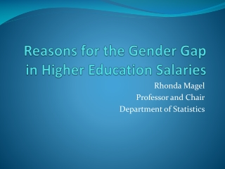 The Gender Gap in Higher Education