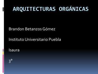 Arquitecturas orgánicas
