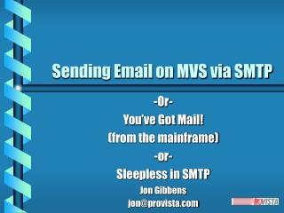 Sending Email on MVS via SMTP