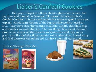 Lieber's  Confetti Cookies