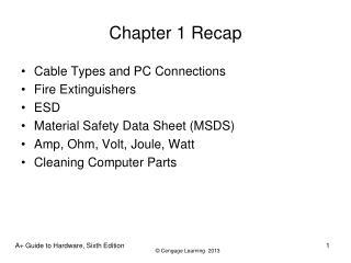 Chapter 1 Recap