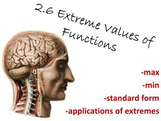 2.6 Extreme Values of Functions