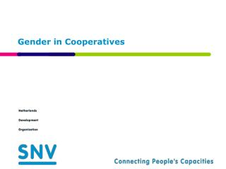 Gender in Cooperatives
