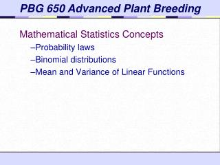 Mathematical Statistics Concepts Probability laws Binomial distributions