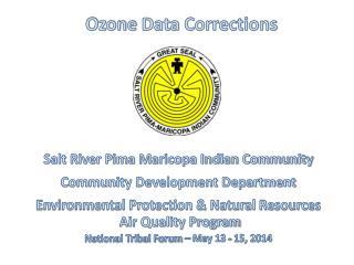 Ozone Data Corrections