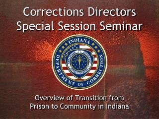 Corrections Directors Special Session Seminar