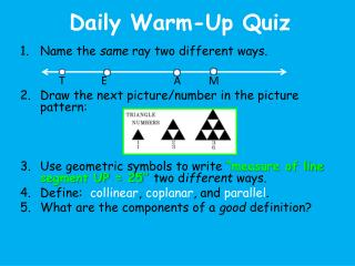 Daily Warm-Up Quiz