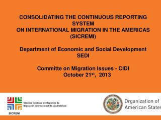 Continuous Reporting System on Internacional Migration in the Americas