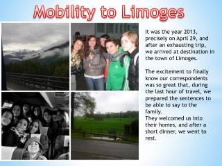 Mobility  to Limoges
