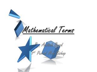 Mathematical Terms