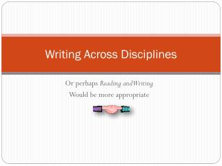 Writing Across Disciplines