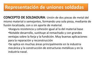Representación de uniones soldadas