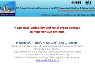 Heart Rate Variability and renal organ damage  in  hypertensive patients