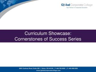 Curriculum Showcase: Cornerstones of Success Series