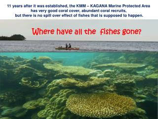 11 years after it was established, the KMM � KAGANA Marine Protected Area