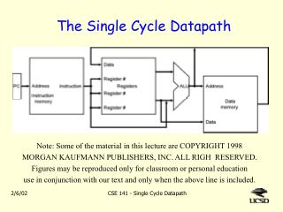 The Single Cycle Datapath