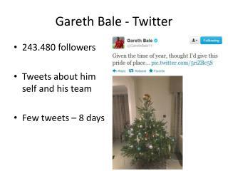 Gareth Bale - Twitter