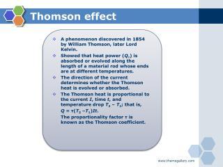 Thomson effect