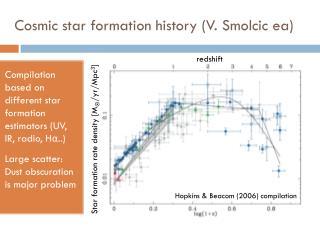 Cosmic star formation history (V.  Smolcic ea )