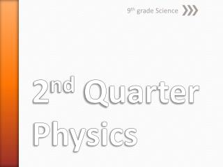 2 nd  Quarter Physics