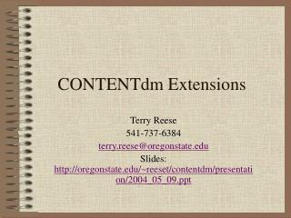 CONTENTdm Extensions