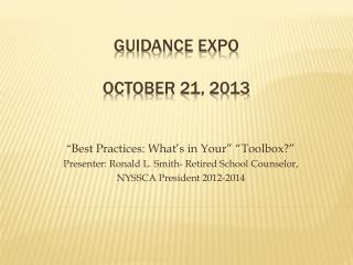 Guidance expo october  21, 2013