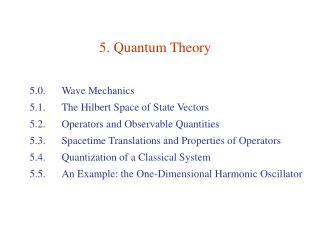 5. Quantum Theory